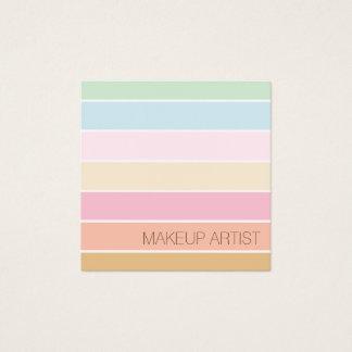 för palettmakeup för modern fin färg pastellfärgad fyrkantigt visitkort