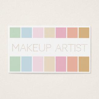 för palettmakeup för modern fin färg pastellfärgad visitkort
