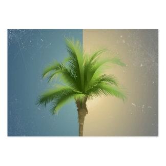 För palmträdturkos för vintage Retro Sepia för krä Visitkort Mallar