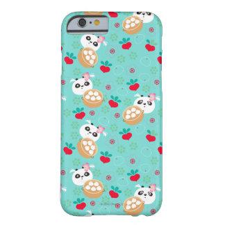 För Pandaklimp för kricka blom- mönster Barely There iPhone 6 Skal