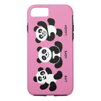 För PandasiPhone 7 för rosor 3 plus, tufft fodral