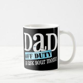 För pappa arbetsuppgift av - vit mugg