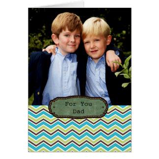 för pappa på fars dagfotokort hälsningskort