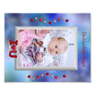 För pappor för ängelfoto lite mellanlägg för ram fototryck