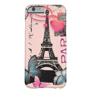 för Paris EffielTower för vintage rosa iPhone 6 Barely There iPhone 6 Skal