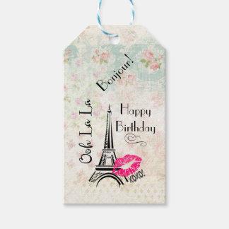 För Paris Eiffel för Ooh LaLa grattis på Presentetikett