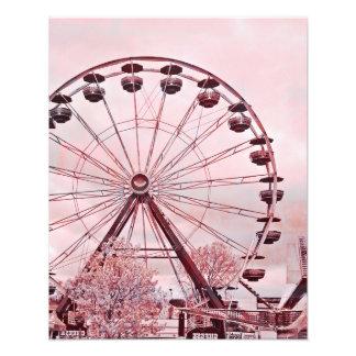 För pariserhjulkonst för sommar roligt rosa tryck
