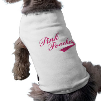 För parodihusdjur för rosa damer Retro T-tröja Långärmad Hundtöja