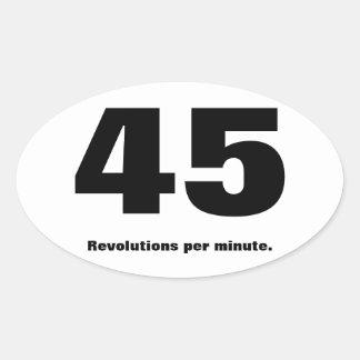 för parodimaraton för 45 r/min. klistermärke