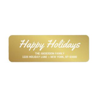 För penseldragbokstäver för glad helg elegant returadress etikett