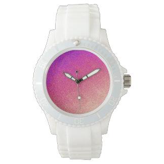 För persikaOmbre för rosa neon purpurfärgad Armbandsur