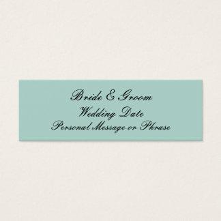 För personligbröllop för Mint grön mall för märkre Litet Visitkort