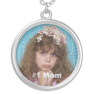 För personligfoto för mamma #1 halsband