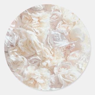 För Petaltyg för vit mjuk rosa klistermärke