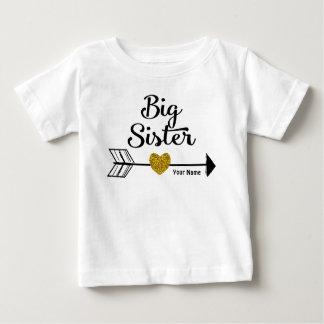 För pilpersonlig för storasyster guld- skjorta tee