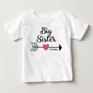 För pilpersonlig för storasyster rosa skjorta tröjor