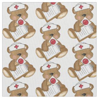 För Pima för sjuksköterskabjörntecknad tyg bomull
