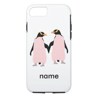 För pingvininnehav för gay pride lesbisk händer