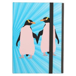 För pingvininnehav för gay pride lesbisk händer iPad air fodral