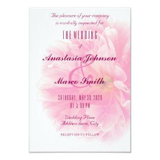 För pionblomma för bröllop brud- blom- kort för 8,9 x 12,7 cm inbjudningskort