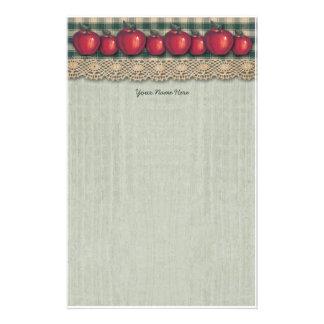 För plädland för röda äpplen grön design brevpapper