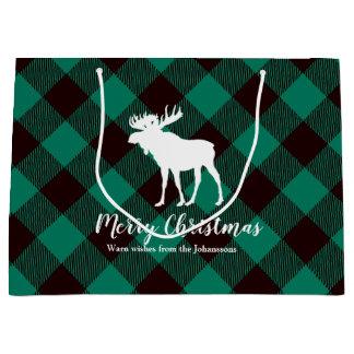 För plädmönster för älg och för buffel grön jul