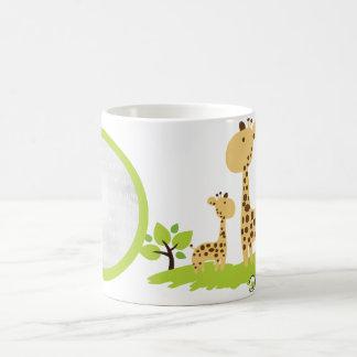För planetanpassningsbar för giraff organiska vit mugg