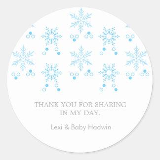 För pojkebaby shower för Snowflake | klistermärke