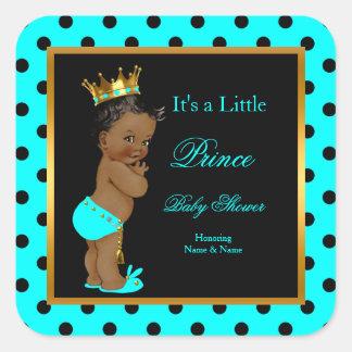 För pojkekricka för Prince baby shower person som Fyrkantigt Klistermärke
