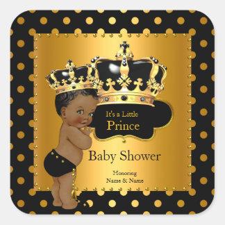 För pojkesvart för Prince baby shower person som Fyrkantigt Klistermärke