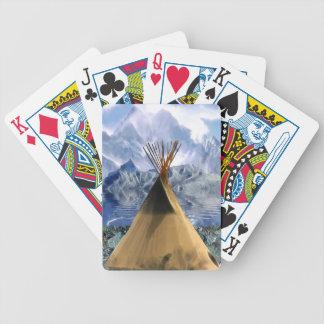 För Pole för indianHaidaTotem däck kort Spel Kort