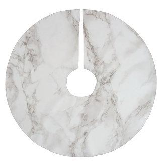 För polyesterträd för marmor sten borstad kjol julgransmatta borstad polyester