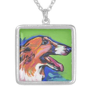 För pophund för Borzoi ljus färgrik konst Anpassningsbara Smycken