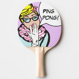 För popkonst för damen La-Di-Da pingen Pong paddla Pingisracket