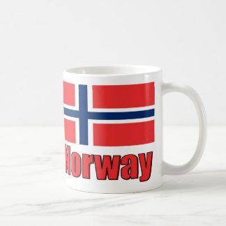 för Porcelan för vit 11oz flagga mugg/norge Kaffemugg