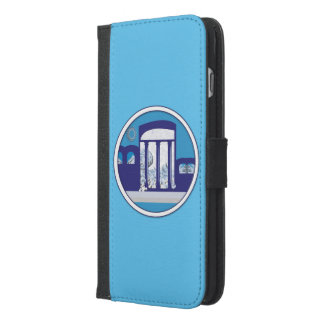 för positivt MEDELHAVS- DRÖM L plånbokfodral för iPhone 6/6s Plus Plånboksfodral