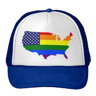 För prideAmerika för anpassade LGBT hatt Keps