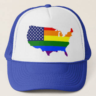 För prideAmerika för anpassade LGBT hatt Truckerkeps