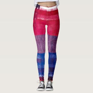 För prideflagga   för amerikan bisexuellt trä & leggings