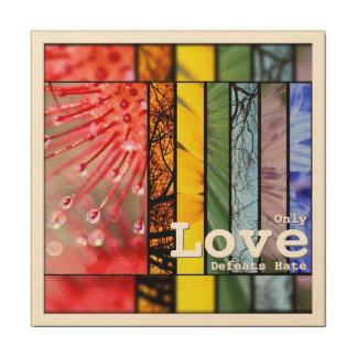 För pridesymbol för regnbåge LGBT hat för nederlag Trätavla