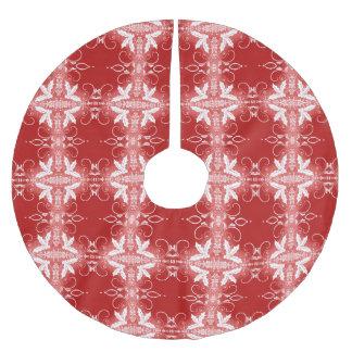 För prydnadabstrakt för röd jul dekorativt mönster julgransmatta borstad polyester
