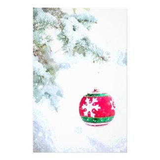 För prydnadgräs för jul röd klassiker för snö för brevpapper