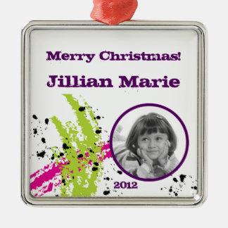 För prydnadrosor för personligen målar julgransprydnad metall