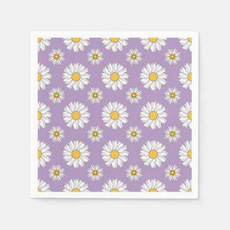 För purpurfärgad blom- bröllop vitdaisy för servett