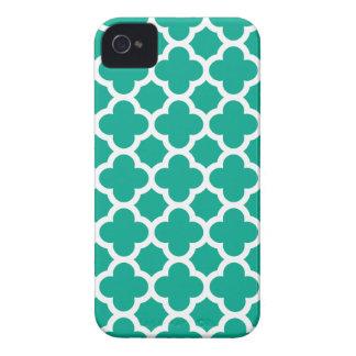För Quatrefoil för smaragd grön iPhone 4 för iPhone 4 Case