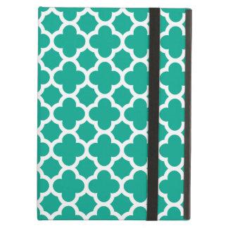 För Quatrefoil för smaragd grönt mönster spaljé iPad Air Skydd