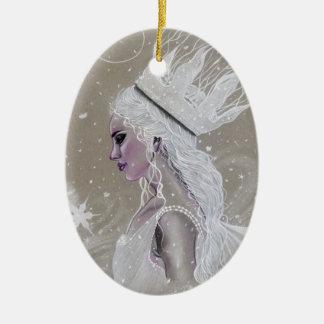 För Queenchristmas för vinter felik prydnad träd Julgransprydnad Keramik