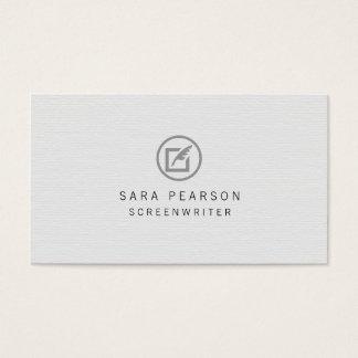 För Quillsymbol för filmförfattare pappert Visitkort