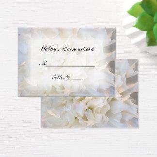 För Quinceañera för vit blom- kort ställe