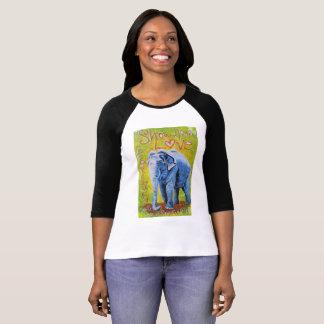 För raglansleeve för elefant themed skjorta tee
